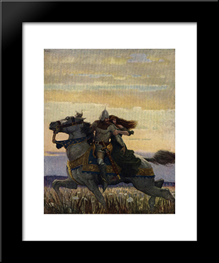 Launcelot And Guenevere: Modern Black Framed Art Print by N.C. Wyeth