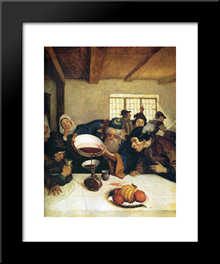 The Astrologer Emptied The Whole Of The Bowl Into The Bottle: Modern Black Framed Art Print by N.C. Wyeth