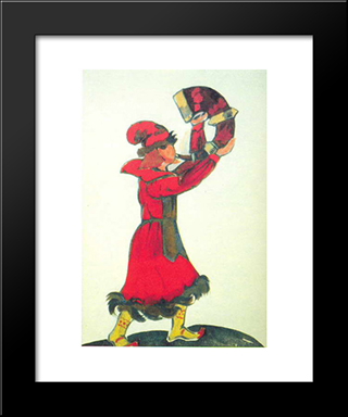 A Guy With The Horn: Modern Black Framed Art Print by Nicholas Roerich
