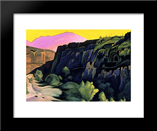 Ajanta. The Rock Temples.: Modern Black Framed Art Print by Nicholas Roerich
