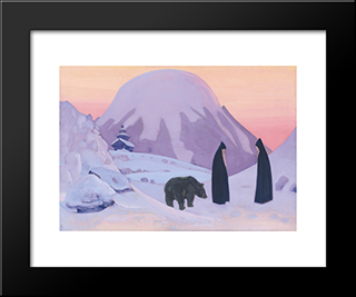 And We Are Not Afraid: Modern Black Framed Art Print by Nicholas Roerich