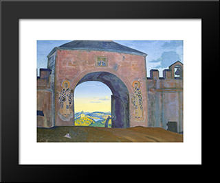 And We Are Opening The Gates: Modern Black Framed Art Print by Nicholas Roerich