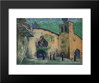 And We Bring The Light: Modern Black Framed Art Print by Nicholas Roerich