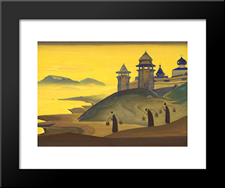 And We Labor: Modern Black Framed Art Print by Nicholas Roerich