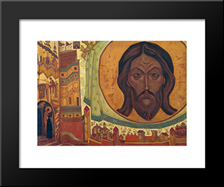 And We See: Modern Black Framed Art Print by Nicholas Roerich