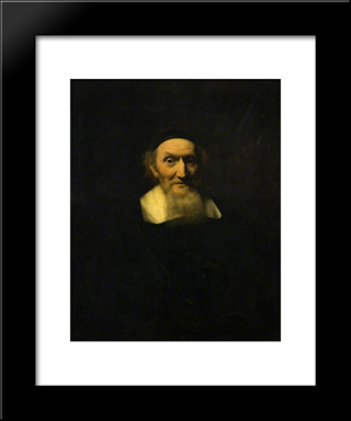 Jacob Trip: Modern Black Framed Art Print by Nicolaes Maes