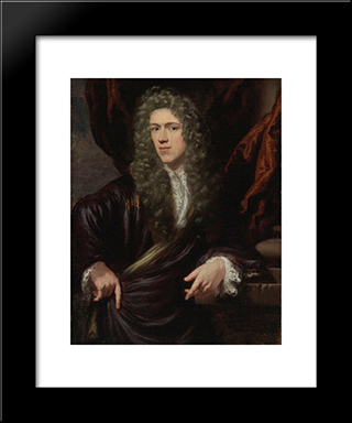 Portrait Of A Gentleman: Modern Black Framed Art Print by Nicolaes Maes