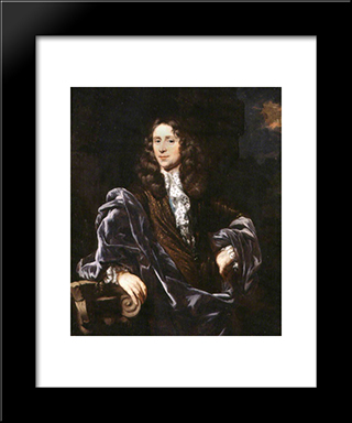 Portrait Of A Man: Modern Black Framed Art Print by Nicolaes Maes