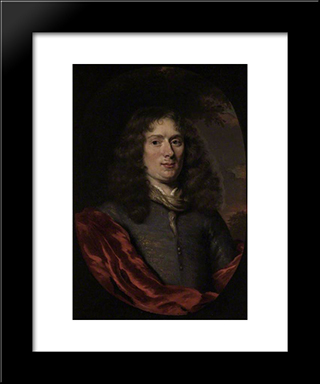 Portrait Of A Young Man: Modern Black Framed Art Print by Nicolaes Maes