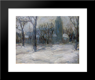 Winter In Innsbruck: Modern Black Framed Art Print by Nikola Tanev