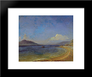 Bay. Vyko: Modern Black Framed Art Print by Nikolai Ge