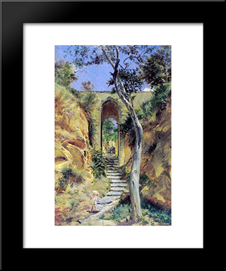 Bridge In Viko: Modern Black Framed Art Print by Nikolai Ge