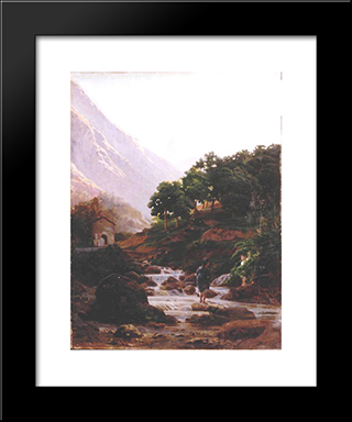 Carrara: Modern Black Framed Art Print by Nikolai Ge