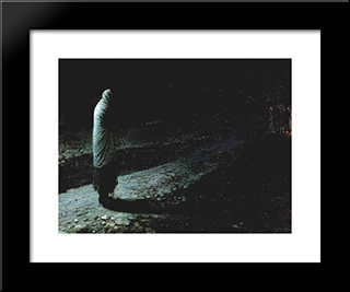 Conscience, Judas: Modern Black Framed Art Print by Nikolai Ge