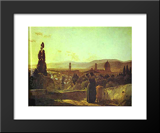 Florence: Modern Black Framed Art Print by Nikolai Ge