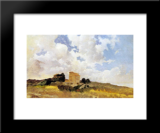 Frascati Clouds: Modern Black Framed Art Print by Nikolai Ge