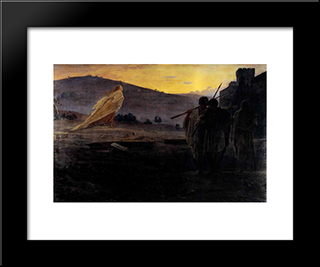 Harbingers Of The Resurrection: Modern Black Framed Art Print by Nikolai Ge