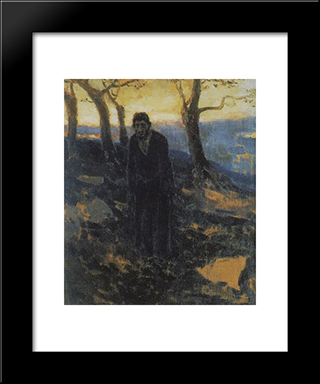 Judah: Modern Black Framed Art Print by Nikolai Ge