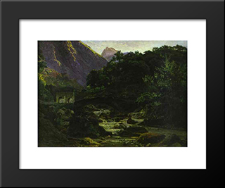 Marble Quarry At Carrara: Modern Black Framed Art Print by Nikolai Ge