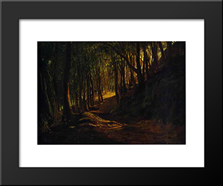 Oak Grove At San Terenzo: Modern Black Framed Art Print by Nikolai Ge