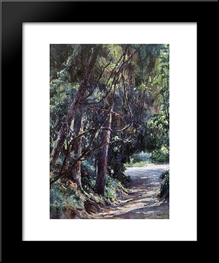 Old Park: Modern Black Framed Art Print by Nikolai Ge