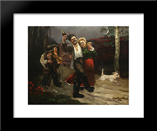 End Of Leave: Modern Black Framed Art Print by Octav Bancila