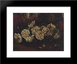 Flowers: Modern Black Framed Art Print by Octav Bancila