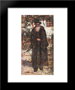 Jew From Targu Cucu: Modern Black Framed Art Print by Octav Bancila
