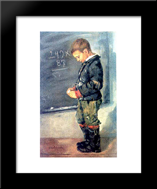 Lost In Calculations: Modern Black Framed Art Print by Octav Bancila