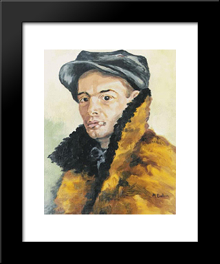 Portrait: Modern Black Framed Art Print by Octav Bancila