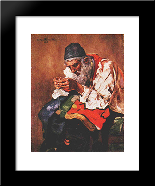 Rag Picker: Modern Black Framed Art Print by Octav Bancila