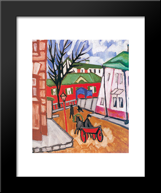 Cabby: Modern Black Framed Art Print by Olga Rozanova