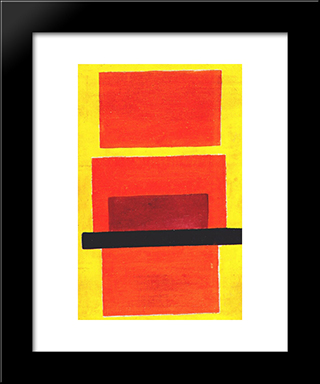 Color Painting (Non-Objective Composition): Modern Black Framed Art Print by Olga Rozanova