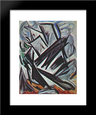 Directional Lines: Modern Black Framed Art Print by Olga Rozanova