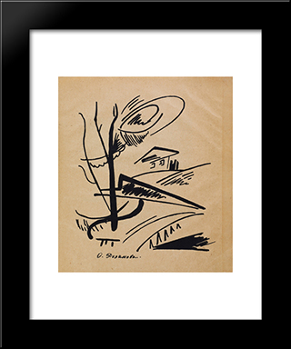 Magazine Souz Molodyozhi [Union Of Youth]: Modern Black Framed Art Print by Olga Rozanova