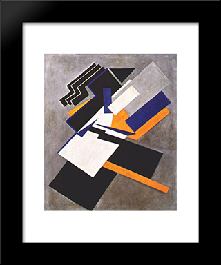 Non-Objective Composition (Suprematism): Modern Black Framed Art Print by Olga Rozanova