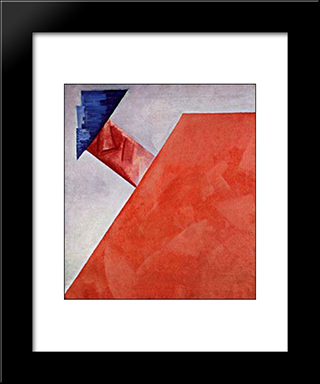 Non-Objective Composition: Modern Black Framed Art Print by Olga Rozanova