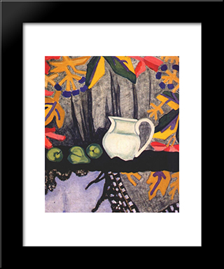 Still Life: Modern Black Framed Art Print by Olga Rozanova