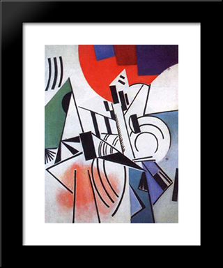 Suprematism: Modern Black Framed Art Print by Olga Rozanova