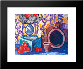 Tomatoes: Modern Black Framed Art Print by Olga Rozanova