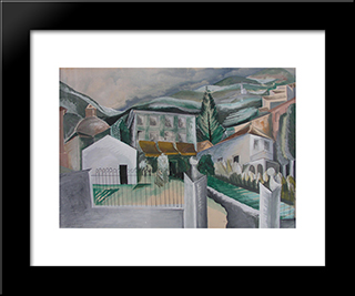 Como: Modern Black Framed Art Print by Ossip Zadkine