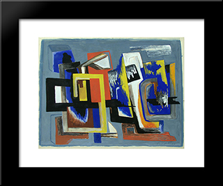 Composition: Modern Black Framed Art Print by Ossip Zadkine