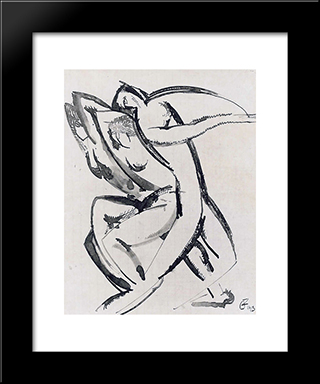 Dance: Modern Black Framed Art Print by Ossip Zadkine