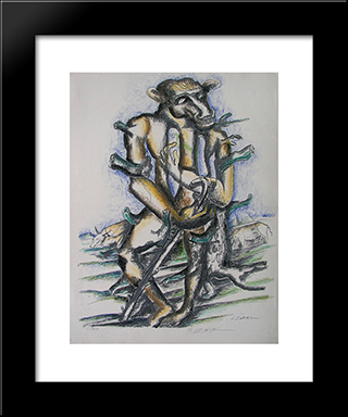 Geryon: Modern Black Framed Art Print by Ossip Zadkine