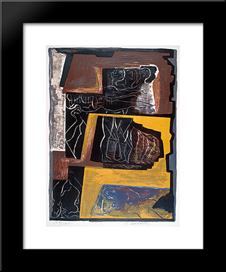 The Dream: Custom Black Wood Framed Art Print by Ossip Zadkine