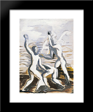 The Fight: Custom Black Wood Framed Art Print by Ossip Zadkine