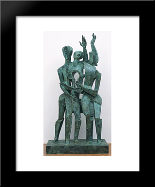 The Return Of The Prodigal Son: Custom Black Wood Framed Art Print by Ossip Zadkine