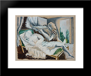 Two Women: Custom Black Wood Framed Art Print by Ossip Zadkine