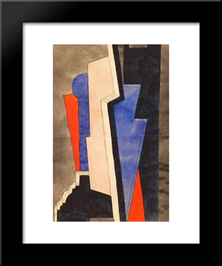 Composition: Modern Black Framed Art Print by Otto Gustav Carlsund