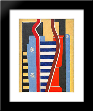 Composition Geometrique: Modern Black Framed Art Print by Otto Gustav Carlsund